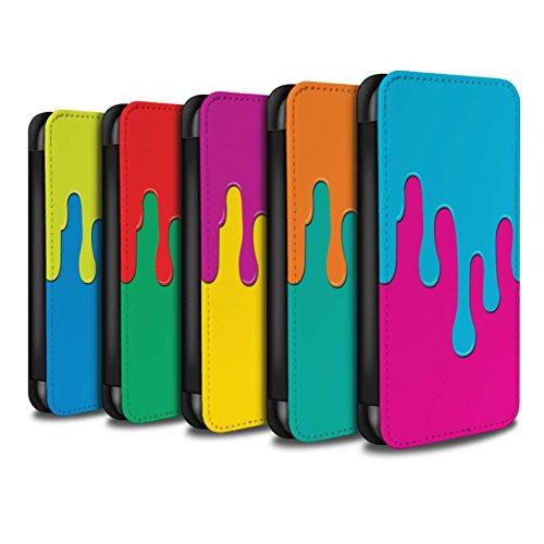 Stuff4 Coque/Etui/Housse Cuir PU Case/Cover pour Apple iPhone 7 Plus / Pack 5pcs Design / Déversement Peinture Collection