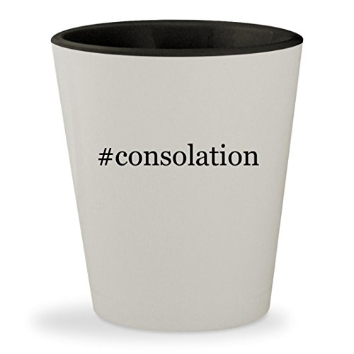 #consolation - Hashtag White Outer & Black Inner Ceramic 1.5oz Shot Glass