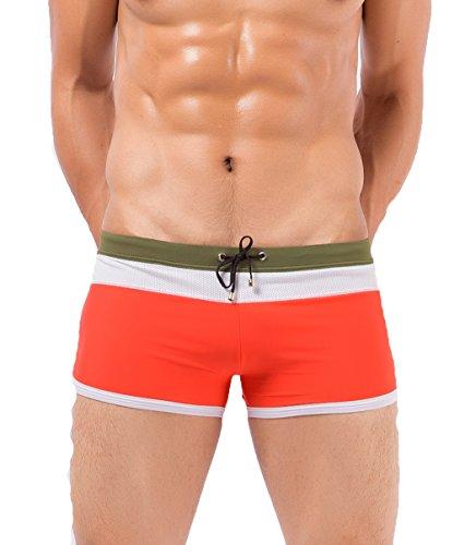 Koson-Man Mens Summer Beach Swimming Lace-up Briefs Trunks Sports Underwear