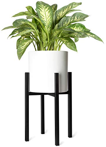 Mkono Plant Stand Mid Century Modern Tall Flower Pot Stands Indoor Outdoor Metal Potted Plant Holder, Plants Display Rack Fits Up to 10 Inch Planter(Planter Not Included)