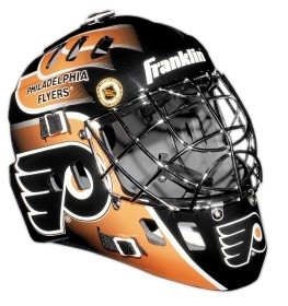 Franklin Mini Goalie Mask (Flyers Mini Hockey Helmet)