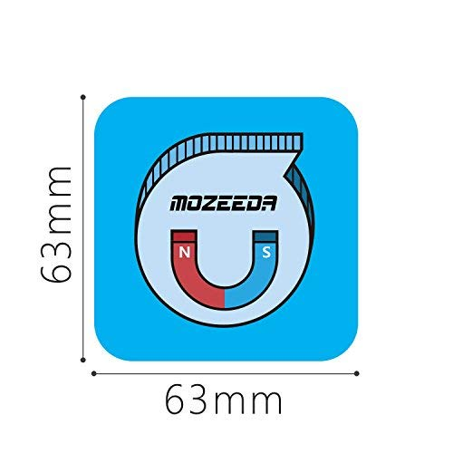 Powerful Mount Magnet Plate For Wireless Charger,MOZEEDA Thin 0.8mm Smart Magnetic Patch Pad For Magnetic Wireless Car Charger and Phone Car Mount Holder Cradle(1 PC Rectangle)