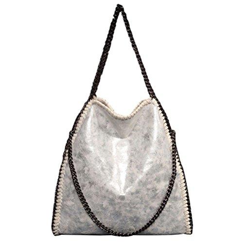 D'argento Donna Tracolla Progettista Elegante Borse Sacchi In Del Pu Borsa Pieghevole Pelle Croce Multifunzionali Zhuhaijq A qZHn4Z