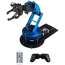 LewanSoul LeArm 6DOF Full Metal Robotic Arm with Servo, Controller, Wireless Handle, Free PC Software and APP, Video Tutorials for Arduino Starter