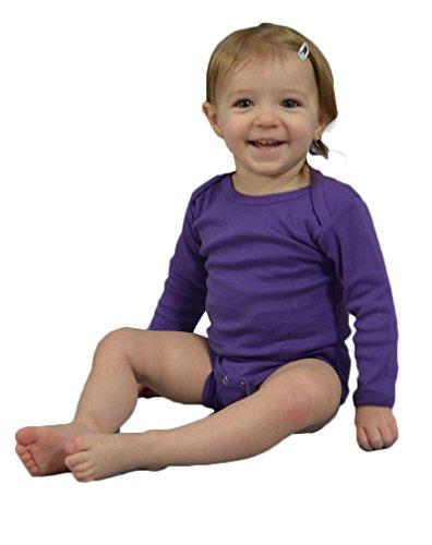 Monag Unisex Baby Bodysuits (12-18M, Purple)]()