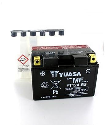 Yuasa Führen Von Yuasa Yt12a Bs 12v 10 5ah Motorrad Batterie Yt12a Bs Or Gewerbe Industrie Wissenschaft