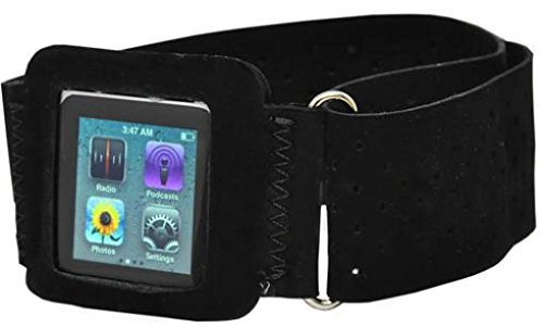 Ipod Nano 6th Gen Armband, Armband Sports Gym Workout Cover Case Jogging Arrm Strap Band Pouch Neoprene Black for Ipod Nano 6th Gen