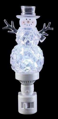 (Icy Crystal Cube Snowman LED Bubble Night Light Roman Lights Roman 165139)