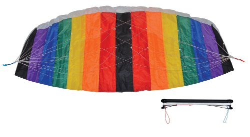 In the Breeze Black and Rainbow Power Kite, 2-Meter from In the Breeze