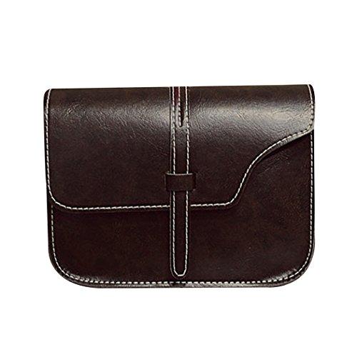 carré sac petit de mini bandoulière sac sac portable Porte mioim à Messenger femme monnaie à main rétro asymétrie Marron téléphone encens sac Foncé wOwgzqY