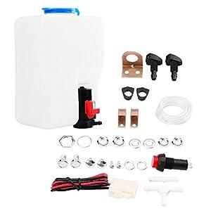 Qiilu 12V Universel Lave-Glace Pompe Kit de Réservoir Nettoyage Outils Fenêtre Pare-brise Rondelle Bouteille pour…