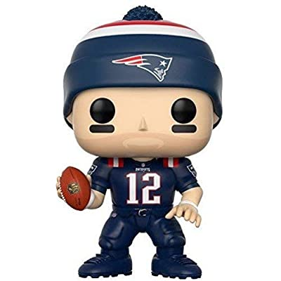 Pop! NFL: New England Patriots, Tom Brady Color Rush #59 Vinyl Figure (Bundled with Pop Protector): Toys & Games