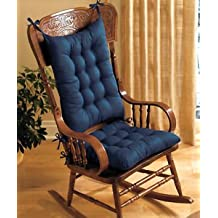 2PC. PADDED ROCKING CHAIR CUSHION SET - BLUE