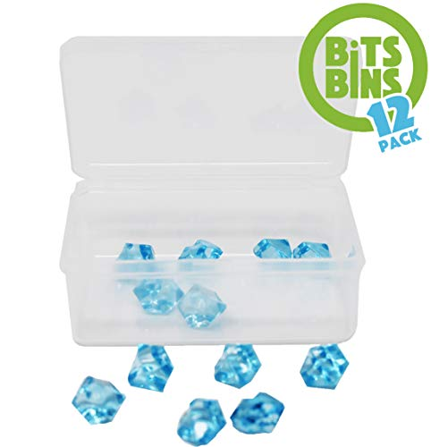 Board Game Pieces Storage Containers, Organizes Meeples, Dice, Tokens, Cards to Fit Inside the Board Game, Includes 12 BitsBins Original Measures 3.125