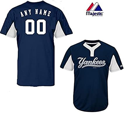 8ccf01de643 Majestic Custom Adult 2XL New York Yankees 2-Button Placket Cool-Base MLB  Licensed