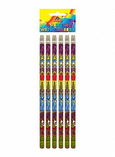 Monster Pencils Party Bag Fillers, pack of 6 by Party Bags 2 Go by Party Bags 2 Go