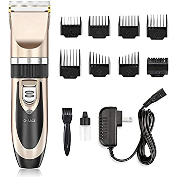 Hair Clippers , Nicewell Low Noise Hair Clippers for Men Kids, Cordless  Hair Trimmer Grooming Kit with 8 Attachment Guide Combs for Hair Cutting