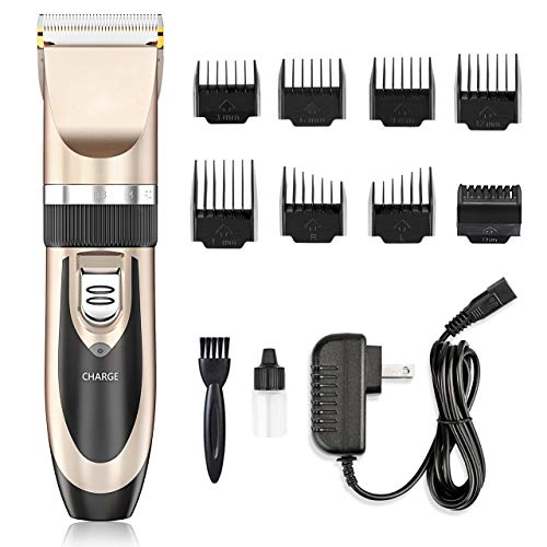 Hair Clippers – Nicewell Low Noise Hair Clippers for Men Kids, Cordless Hair Trimmer Grooming Kit with 8 Attachment Guide Combs for Hair Cutting