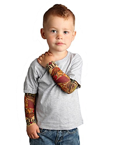 Kid Tattoos For Moms (Tottude Baby Boys' Mom Heart Tattoo Sleeve T Shirt 12 Months)