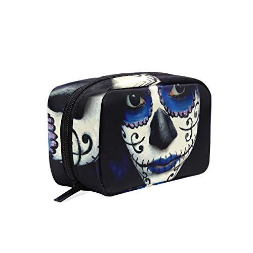 Toiletry Bag Guy Sugar Skull Makeup Womens Beauty Makeup Case Brush Cosmetic Organizer for $<!--$20.99-->