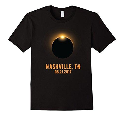 Mens  NASHVILLE Total Solar Eclipse August 21 2017 USA T Shirt Large - Shield Eclipse Sunglasses For Solar