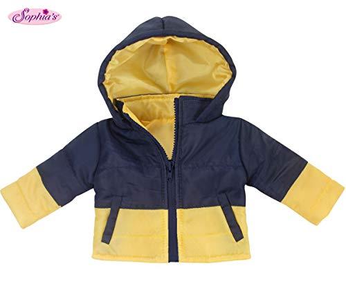 [해외]18 Inch Boy Doll Coat by Sophia`s | Navy & Yellow Puffy Coat for Dolls / 18 Inch Boy Doll Coat by Sophia`s | Navy & Yellow Puffy Coat for Dolls