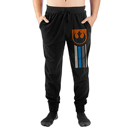 Star Wars Rebel Symbol Mens Black Joggers-X-Large