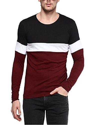 Urbano Fashion Men's Striped Slim Fit T-Shirt (cns-rnd-blama