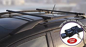 VW Sharan Locking Roof Bars   Only Fits Cars With Roof Rails
