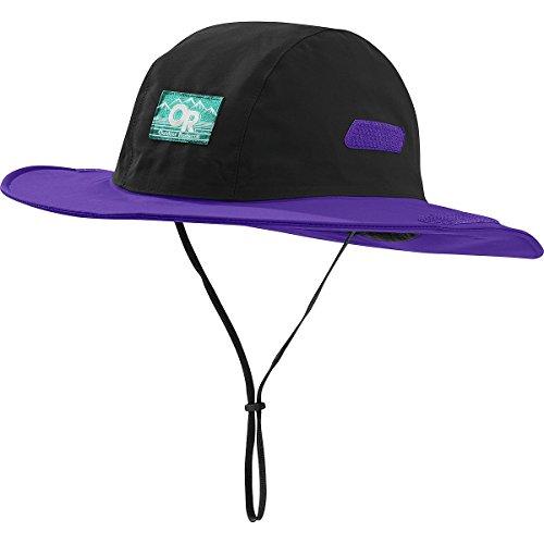 Outdoor Research Seattle Sombrero Retro Hat, Black/Purple Rain, ()
