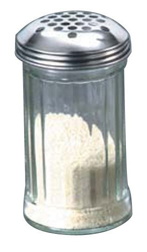 American Metalcraft (GLA319) 12 oz Glass Cheese Shaker w/Extra Large Holes Lid