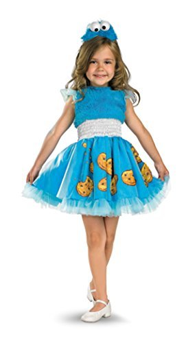 Frilly Cookie Monster Toddler Costume - Toddler Medium (Girls Cookie Monster Costumes)