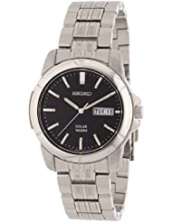 Seiko Mens SNE093 Stainless Steel Solar Watch