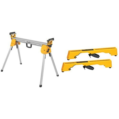 DEWALT DWX724 Compact Miter Saw Stand with DW7231 Miter-Saw Workstation Tool Mounting Brackets