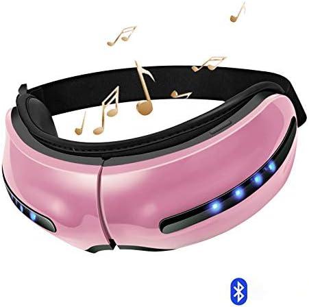 目のマッサージャーの電気鉱泉の空気圧の目のマッサージャーの器械音楽無線振動磁気暖房療法の目の心配、ピンク