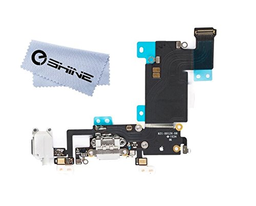 new product 4c7fb c1462 EShine Charging Port Dock Connector Headphone Jack, Mic Flex Cable  Replacement for iPhone 6S Plus 5.5 (All Carriers), White