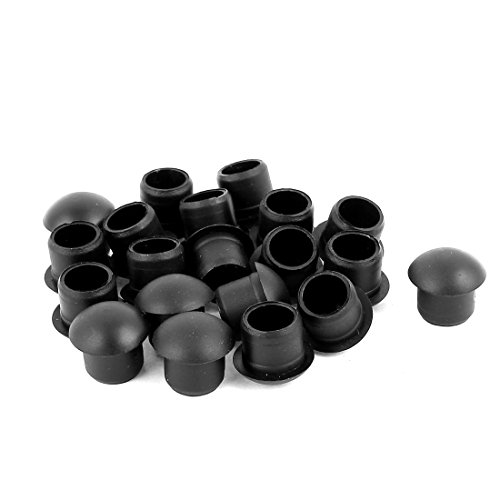 Aexit 20 Pcs Audio & Video Accessories Nylon M12 Diameter Dome Head Cable Hole Caps Cover Connectors & Adapters Insert ()