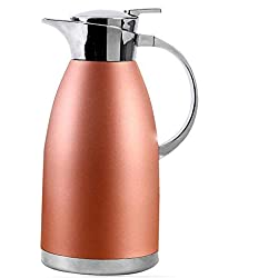 304 Espresso pot/Stainless Steel Kettle, Rubber Inner Stopper Double Insulation, 2l Large Capacity, for Kitchen/Living Room, 6 Cups