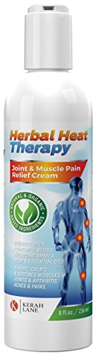 Herbal Heat Therapy (8 Oz) Organic Pain Relief Cream with Arnica & Msm: Relieving Aches & Pains for Arthritis, Joint, Muscle, Back, Sciatica, Gout, Fibromyalgia, Neuropathy, Tendonitis, Bursitis etc