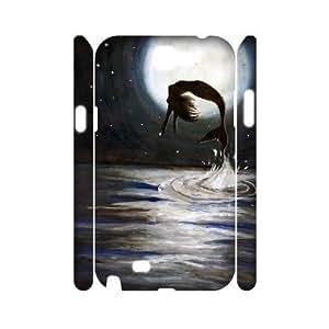 mermaid Cheap Custom 3D Cell Phone Case Cover for Samsung Galaxy Note 2 N7100, mermaid Galaxy Note 2 N7100 3D Case