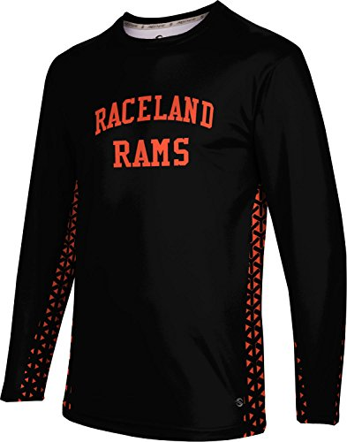 ProSphere Men's Raceland High School Geometric Long Sleeve Tee (Apparel) F0212