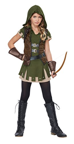 California Costumes Miss Robin Hood Costume, Olive/Brown,