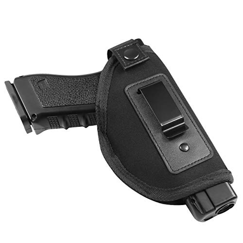 Feyachi IWB Gun Holster for Pistol Concealed Carry Holster Inside The Waistband for Glock 17 19 26 43 S&W M&P Shield 9mm Taurus PT111 Sig Sauer P365 Springfield XD Ruger LC9 Handgun (Right Handed)
