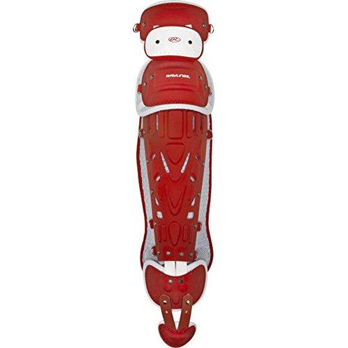 Scarlet Pro Leg Guards - Rawlings  Pro Preferred Series Leg Guards, 17.5