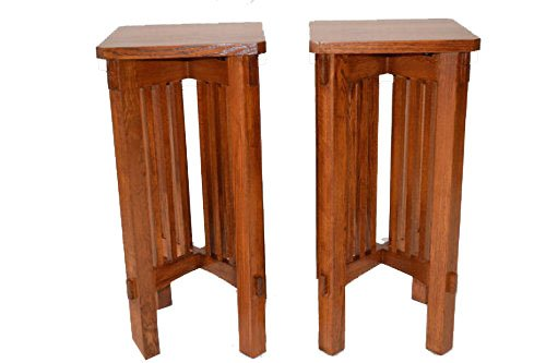 Mission Oak Plant Stand (Mission Style Pair of Plant Stands)