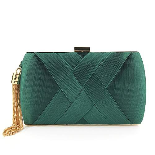 Mariée One Size Dîner 4 couleur H Green 2 Fringe 33inch 7 Sac De Taille Package Vin Fashion 08 Embrayage 75 l Xlx Rouge Cocktail q04AAB