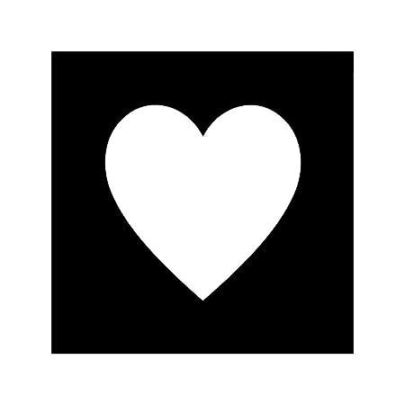 Glimmer Body Art plantilla del tatuaje corazón emoji: Amazon.es: Hogar