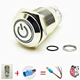 Viping Car Horn Button 12V 16mm On/Off Switch