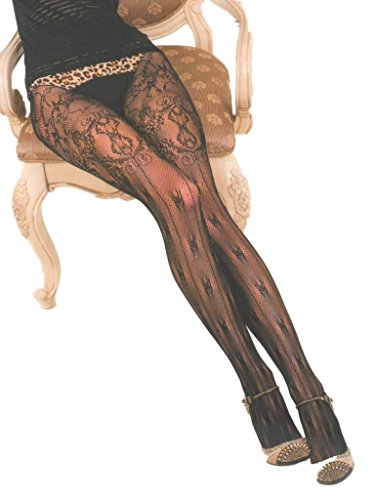 Yelete Killer Legs Womens Plus Size Fishnet Pantyhose 168YD030Q, French Boudoir - French Boudoir
