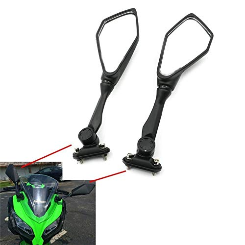 FINCOS for Kawasaki Ninja ZX 636 ZX6R 300R EX300 ABS 2013-2017 2016 2015 2014 Rear View Mirror Glass Side Mount Rearview Mirrors